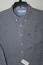 New Nautica 2XL XXL WR7422 Shirt Plaid Red Blue White Slim Fit Long sleeve Cotto