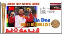 LIN DAN 2012 OLYMPIC CHINA BADMINTON GOLD MEDAL COVER