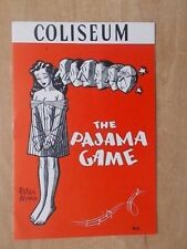 COLISEUM THEATRE PROGRAMME 1955 THE PAJAMA GAME - WITH MAX WALL