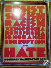 Chuck Sperry Very RARE!! SIGNED/# Edition Resist Women's March Lithograph Poster