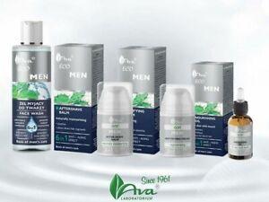 AVA Laboratorium Eco Men- Oil Beard, Aftershave, Mattifying Cream, Slimming Balm
