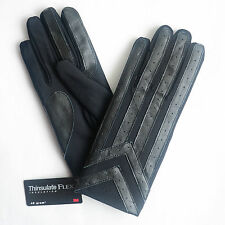 Isotoner Men's Classic Thinsulate Lined Stretch Driving Gloves Black Size M/L