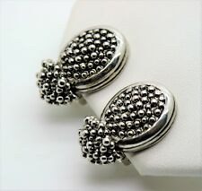 A025 CHIC  CLASSIC Design  Balinese Silver Dots Texture Clip Fashion Earring