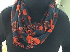 Chicago Bears Love Infinity Scarf New FREE USA SHIPPING
