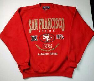 Vintage Galt Sand NFL San Francisco 49ers Crewneck Sweatshirt Sz XL USA Made 90s