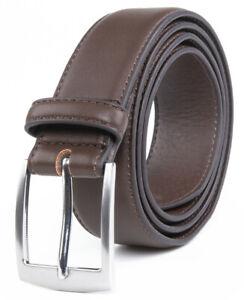 Men's Dress Belt Black Leather Belts for Jeans