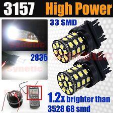 2x 3157 Daytime Running Light DRL 6000K Bright White 2835 Chip LED Light Bulbs