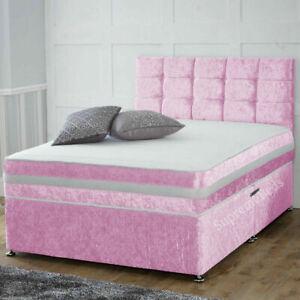 Divan Bed with Mattress Headboard, Divan Base with Mattress, Double Single King