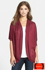 Gibson Dolman Sleeve Open Cardigan Red Size XL Petite MSRP $128