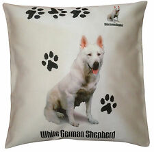 German Shepherd White Paws Breed of Dog Cotton Cushion Cover - Perfect Gift