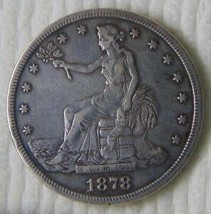 1878 S Silver Trade Dollar, $1, High Grade!