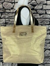 MICHAEL KORS Large Gold Metallic Tote / Shopper / Beach / Weekender - PERFECTO!