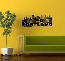 Portland Skyline Vinyl Wall Decal Wall Sticker Man cave Bedroom Removable cutout
