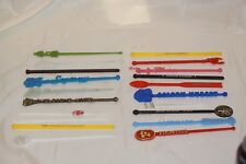 Vintage lot of 20 Different Advertising SWIZZLE STICKS CASINOS AIRLINES HOTEL #2