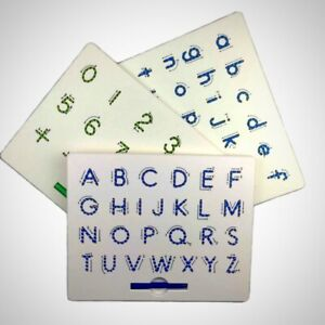 Magnetic Tablet Drawing Board Pad Alphabet Numbers Learning Educational Kids Toy