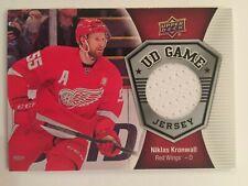 Niklas KRONWALL 2016 17 Upper Deck Hockey Ser II Game Jersey #GJ-NK Red Wings