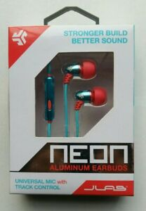 NEW JLab Metal Aluminum Earbuds With Universal Mic+Track Control Stronger Build