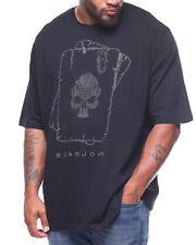 NEW Sean John Studded SKULL SPADE Graphic Print T Shirt BLACK Mens Size MEDIUM