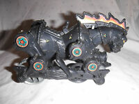 "8"" Horse Pull String Rolling Black Rolling Battle Horse Toy 2 Horses"