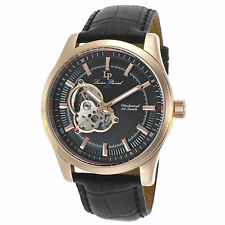 Lucien Piccard 40006M-RG-01 Mechanical Black Leather Black Dial Men's Watch