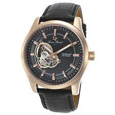 Lucien Piccard 40006M-RG-01 Mechanical Black Leather Black Dial Men's Watch