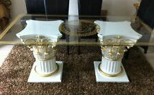 Glastisch Medusa Esstisch Barock Tisch Säulen Wohntisch Styl Barock Art  6031