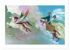Wedding Couple in Flying Chariot Wedding Greeting Card (Miscellaneous Print)