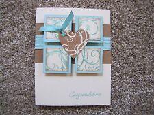 Elegant Vintage Birthday/Sympathy/Congratulation Card Kit 4 w/Some Stampin Up