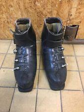 Ancienne Chaussures Ski Le Trappeur Crochet Special Jo Cuir Deco Chalet Retro