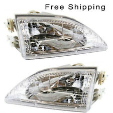Halogen Head Lamp Assembly Set of 2 Pair LH & RH Side Fits 94-1998 Ford Mustang