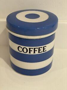 T G Green kitchen Cornishware early 11cm Coffee Caddy Black Shield