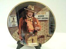 """John Wayne, American Leyend Plate by Robert Tenenbaum 8"""" Diam."""