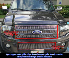 Fits 2007-2013 Ford Expedition Vertical Billet Grille Grill Insert Combo