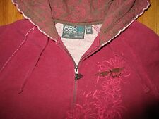686 Six Eight Six Full Zip Magenta Logo Hoodie Women's Size Medium