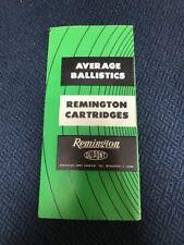 Du Pont Remington Cartridges Average Ballistics Vintage Pamphlet Brochure