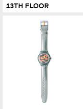 Swatch SAN401 13th Floor silver watch automatic swiss made Atlanta 1996 olympics