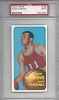 1970 Topps basketball card #165 Clem Haskins, Atlanta Hawks graded PSA 7 ROOKIE
