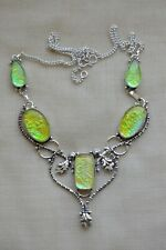 HANDMADE Fancy Dichroic Glass NECKLACE - Gorgeous,Beautiful,HighQuality 19 3/4''