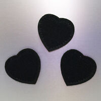 Black Hearts Patches (Set of 3) — Iron On Badge Embroidered Motif — Patch Biker