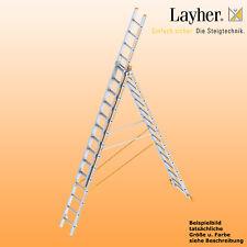 Layher Alu Allzweckleiter 3-teilig Multifunktionsleiter 3x14 Spr., Typ 1040.014