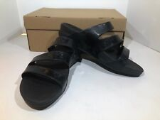 FitFlop Superjelly Twist Women's Size 8 Black Wedge Slide Sandals Shoes X15-2032