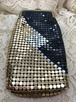 Vintage Soft Metallic Mesh Black/Gold/Silver Cigarette Pouch