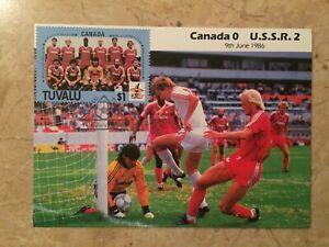 09/06/1986 World Cup Postcard: Canada v Russia sent 07/14/86