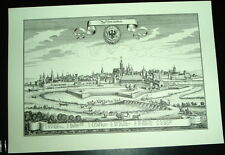 Schweinfurt: alte Ansicht Merian Stich 1650