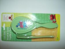 Green Brush And Comb With Sesame Street Kids