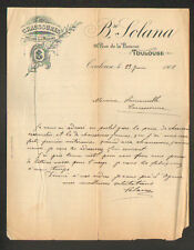 """TOULOUSE (31) CHAUSSURES de LUXE sur MESURE """"B. SOLANA"""" en 1902"""