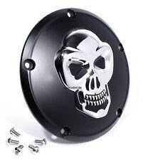 3d skull embrayage couvercle pour Harley 99-twin cam tete de mort derby Cover Noir HD