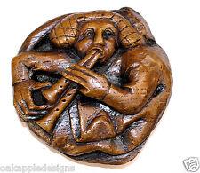 Cathédrale médiévale reproduction sonore misericord carving Homme tuyaux fait main