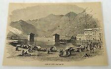 1859 magazine engraving ~ LAKE OF COMO, Italy