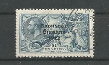 Ireland 1922 Sg66 58 10s Seahorse Variety - Retouch to 10 -T61jg Used CV1800€